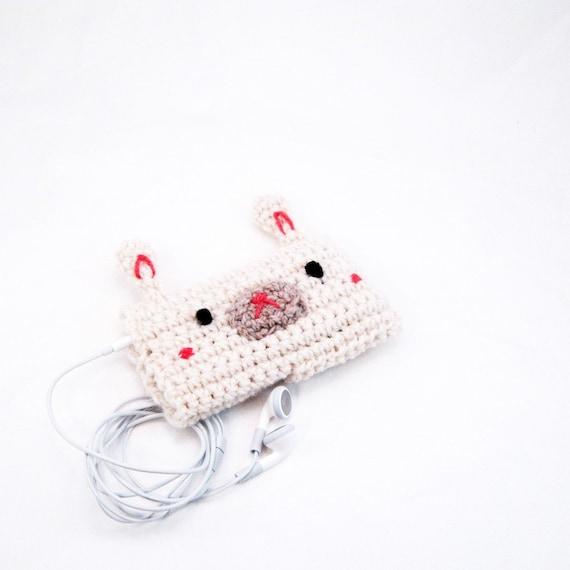 Crocheted Cream Bunny iPod/ iPhone cozy