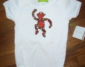 Funky Monkey Baby Appliqued One-Piece