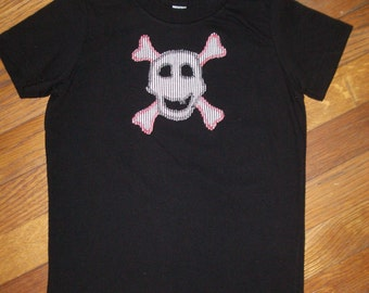Skull Boy on Black T-Shirt