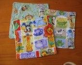 Set of 3 jungle animal washcloths