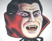 Vintage 1980s Dracula Halloween Die Cut Decoration by Beistle