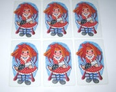 Vintage Children's Playing Cards with Raggedy Ann Set of 6