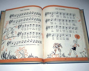 Our Songs Vintage 1950s Children's School Song Book of Music by C. C. Birchard and Co.
