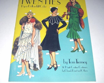 Great Fashion Designs of the Twenties Vintage Dover Paper Doll Book for Children by Tom Tierney
