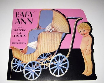 Reproduction Antique Paper Dolls Book for Children Entitled Baby Ann Her Nursery and Clothes