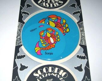 Vintage 1960s or 1970s Set of 6 Zodiac Pasties or Stickers in Original Package Scorpio