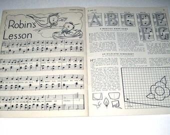 Vintage 1940s Childrens Activities Book for June 1946