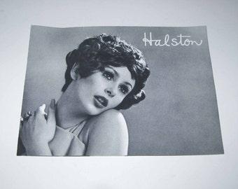 Vintage 1970s Halston Wig Booklet