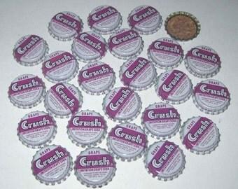 Vintage Imitation Grape Crush Soda Bottle Caps with Cork Backs Lining Set of 25