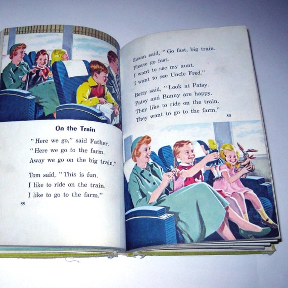 Vintage 1940s Childrens Reader or Textbook Entitled The Little White House