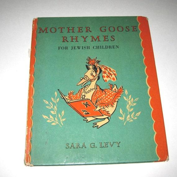 Vintage 1940s or 1950s Childrens Book Entitled Mother Goose