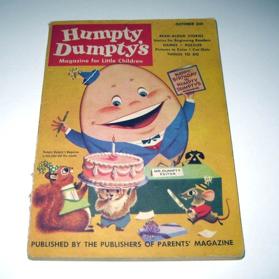 Vintage 1950s Humpty Dumpty's Magazine for Little Children October 1953