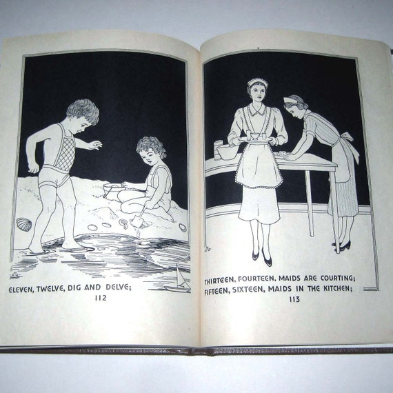 Vintage 1930s Children's Book Entitled Let's Play with Fingers