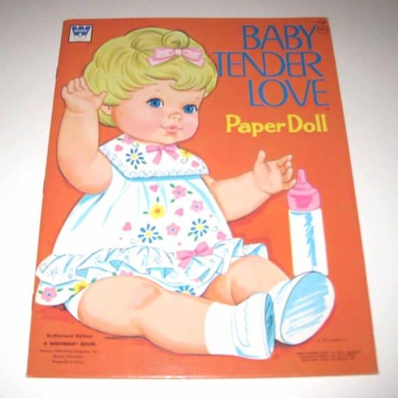 Vintage 1970s Baby Tender Love Paper Doll Book for Children Uncut