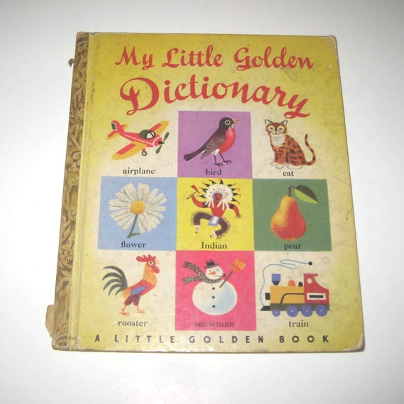 Vintage 1950s My Little Golden Dictionary for Children Illustrated by Richard Scarry