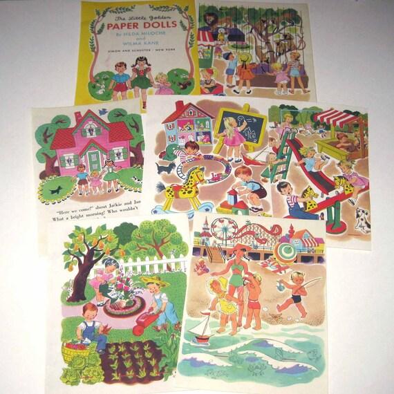 The Little Golden Paper Dolls Vintage 1950s Children's Little Golden Book Pages