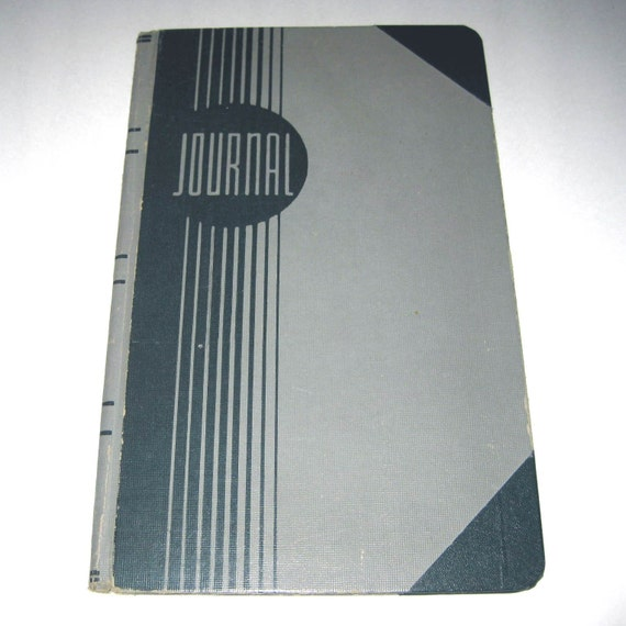Vintage Journal or Cash Accounting Ledger Book