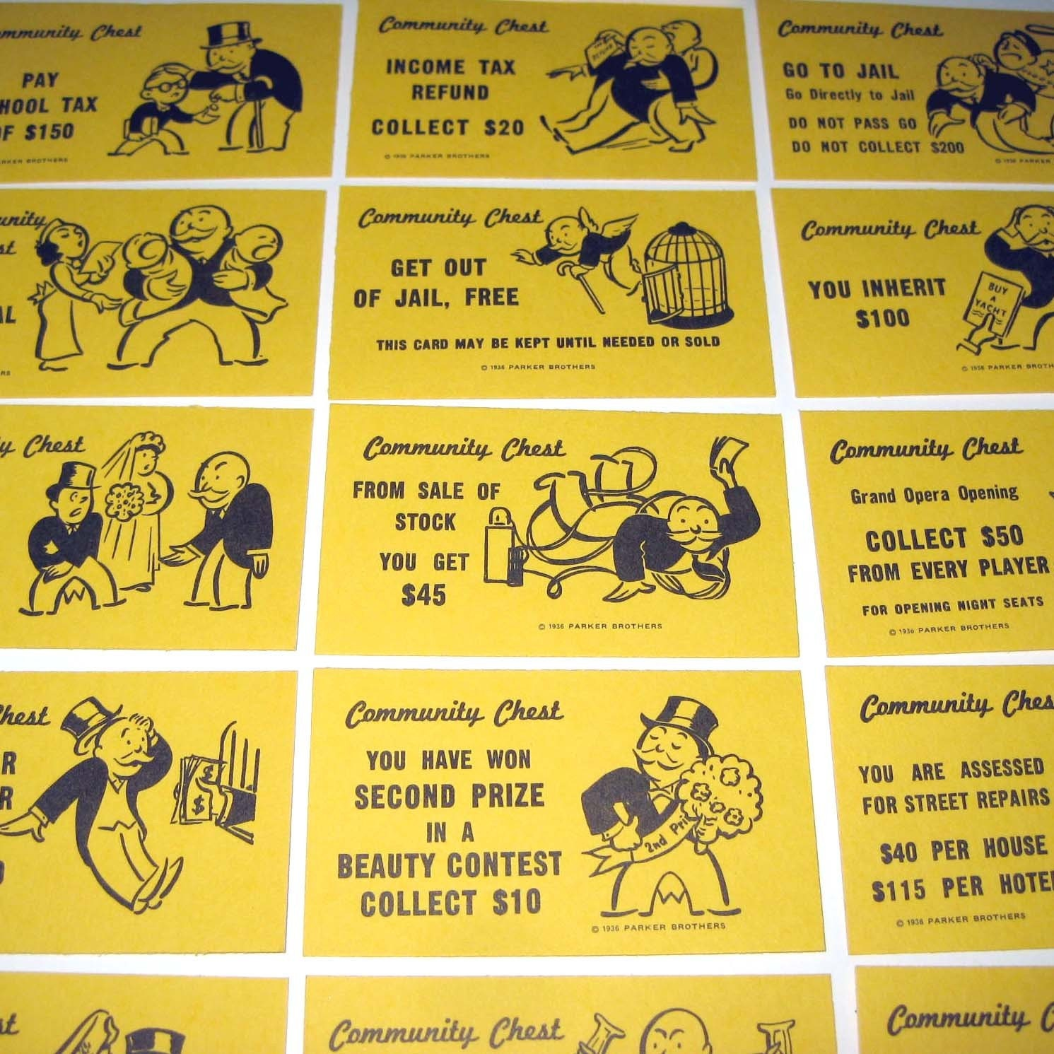 Pics for monopoly community chest cards for Get out of jail free card template