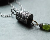 RESERVED for Barbara - Deposit on Poetry and Peridot Long Sterling Necklace