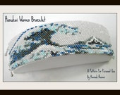 Beading Pattern Hosukai Great Wave Japan peyote stitch TUTORIAL INSTRUCTIONS