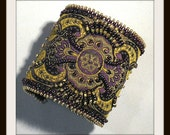 Bead Tutorial Steampunk Brocade Beaded Bracelet pattern instructions