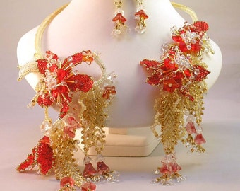 Bead Pattern Passion Flower Beaded Vine Necklace advanced tutorial instructions