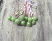 Enameled Copper Headpins Avocado Pistachio Made to Order