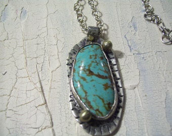 UrbanRomantic Freeform turquoise necklace