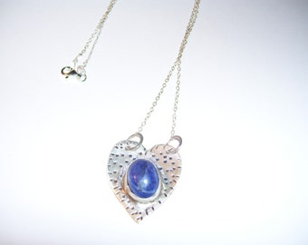 Urban Romantic Sterling Silver Heart with Lapis Lazuli
