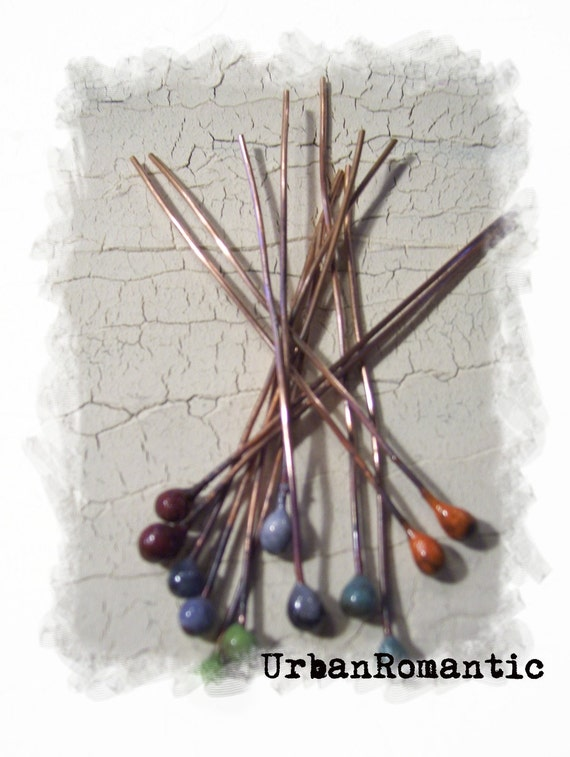 18 gauge Enameled Headpins multi color