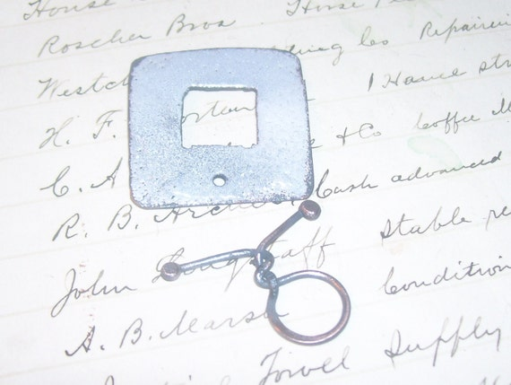 Funky Enameled square clasp White