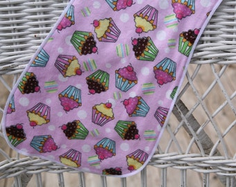 Cupcake Burp Cloth, LAST one  of the PRINT