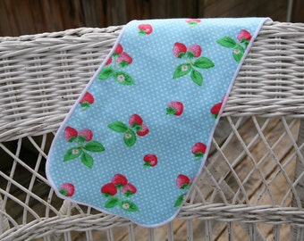 Strawberry Burp Cloth
