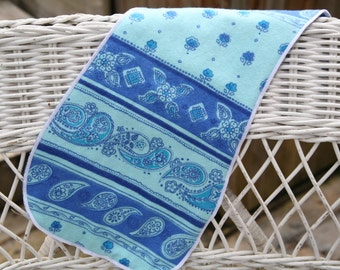 Blue Paisley Burp Cloth