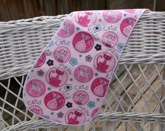 Pink Kitty Burp Cloth
