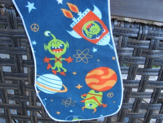 burp cloth alien in space