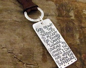 Serenity Prayer Necklace - Silver Serenity Prayer - Inspirational Quote Jewelry