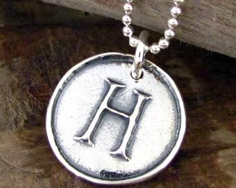 Letter Necklace Initial Charm - Alphabet Pendant - Personalized Jewelry A B C D E J K L R S T