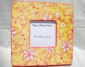 Yellow and Red Wonderfully Fun Floral Picture frame 8x8 with