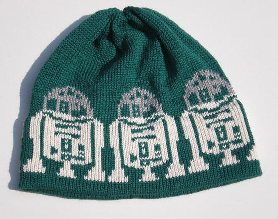 Hat For the Man in a galaxy far far away Forest Green Silver White Cotton