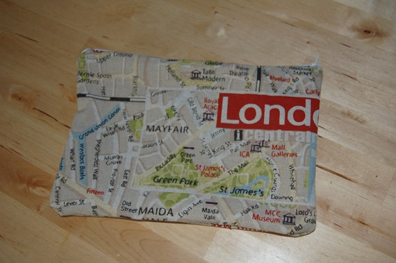 RESERVED  -----   Zip Pouch - London Calling