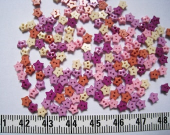100pcs of Super Tiny Star Buttons - 4 to 5mm - Purple