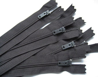 4 inch black YKK Zippers - Set of 24 pcs