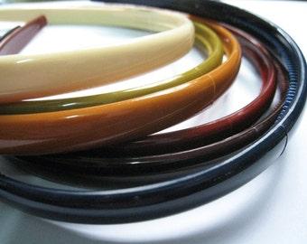 6 pcs of another earth tone headband - 10mm