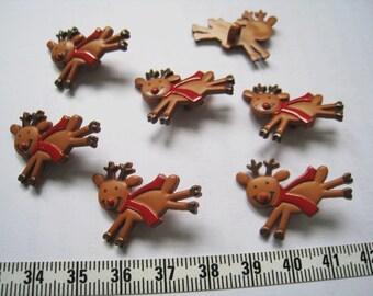 18pcs of Running Reindeer Button