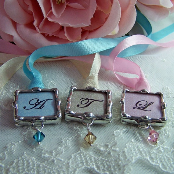 Bridal Party Bouquet Charm Personalized Wedding Charm
