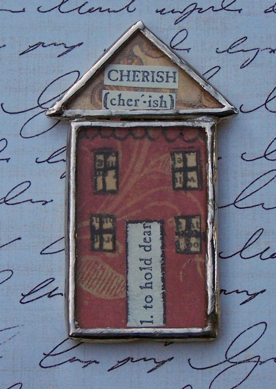 Soldered House Pin \/ Brooch