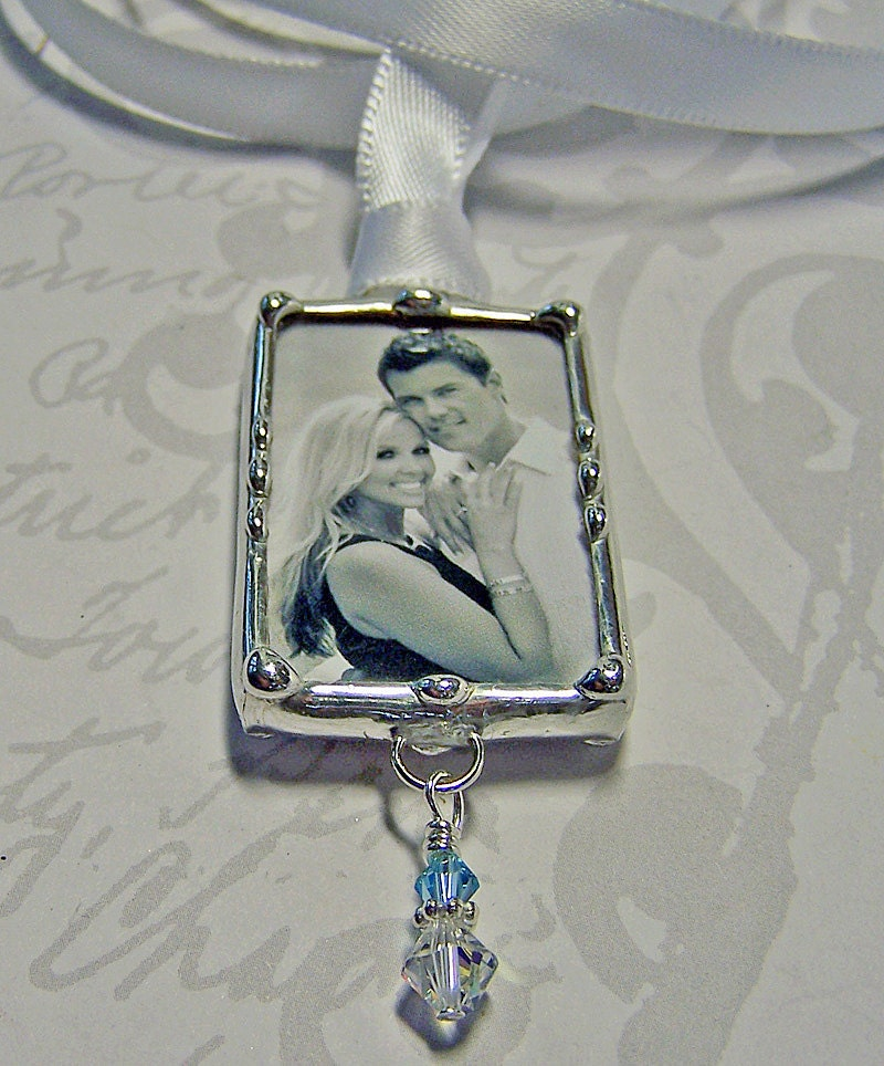 wedding memorial charm bouquet charm personalized photo