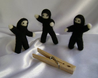 Make Your Own POCKET NINJA Needle Felted Kit DIY