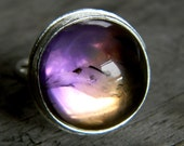 Cocktail Ring in Ametrine Gemstone and Sterling Silver Made To Order